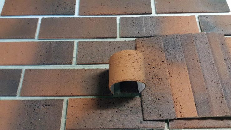 камни гибкие фасад