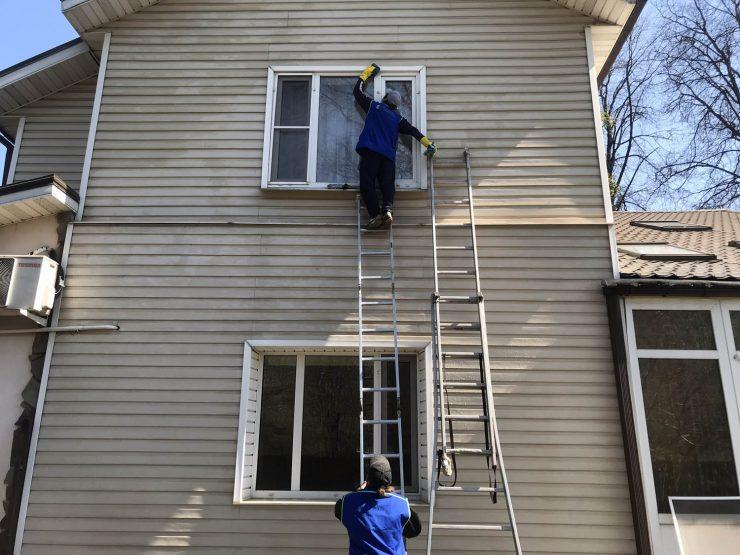 отмыть фасад