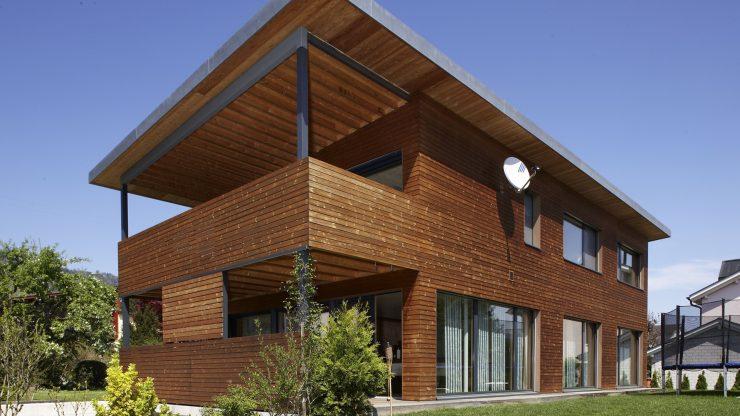 фасад деревянный